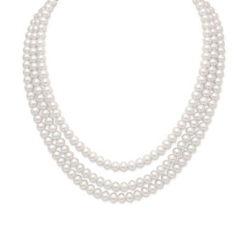 """15""""-17"""" Triple Strand Cultured Freshwater Pearl Necklace"""