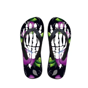 Monster Skeleton Flip Flops
