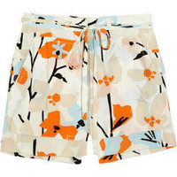 Diane von Furstenberg Jansen printed silk shorts – 63% at THE OUTNET.COM