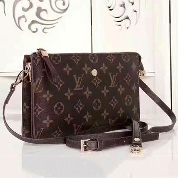 LV Louis Vuitton counter female high quality shoulder bag F-AGG-CZDL coffee