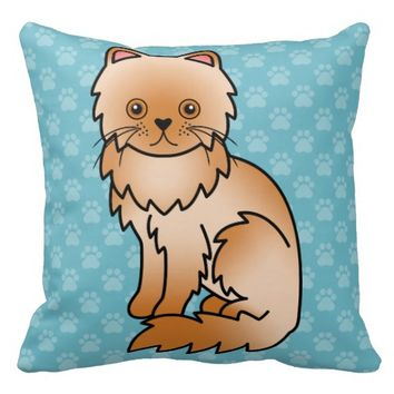 Red Persian Cat Pillows
