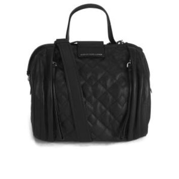 MARC BY MARC JACOBS MOTO QUILTED BARREL BAG - BLACK