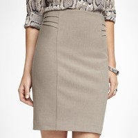 HIGH WAIST PINTUCKED PENCIL SKIRT