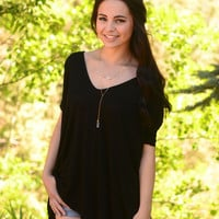 Piko Tee Shirt- Black