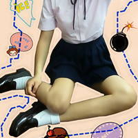 Japanese School Uniform Style Girls French Toast Blouse Peter Pan Collar Uniform Shirt Tops