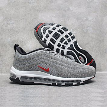Nike Air Max 97 Lx Swarovski Crystal Metallic Silver Bullet Running Shoes Sport Shoes 927508 001