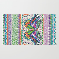 Tribal Butterfly Area & Throw Rug by Janet Broxon