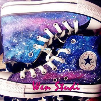galaxy converse galaxy custom design shoes high quality hand painted shoes converse cu