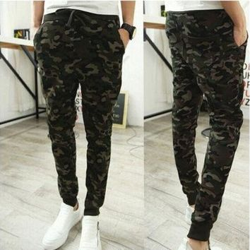 CREYUG3 FASHION Combat Military Camouflage Camo Men's Casual Pants Joggers Sport Sweatpants Trousers [9221789700]