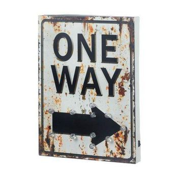 Light-up One Way Sign (pack of 1 EA)