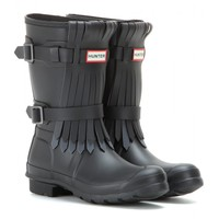Short Fringe Wellington boots