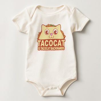 Tacocat Backwards II Baby Bodysuit