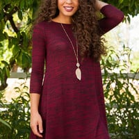 Merilee Swing Dress - Burgundy