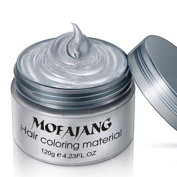 Hair Color Wax Dye Unisex Molding Paste Hair Style Styling Dye Wax Cream