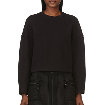 T By Alexander Wang Black Boxy Sweatshirt