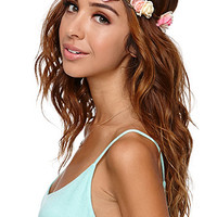 With Love From CA Sweet Rose Flower Crown at PacSun.com