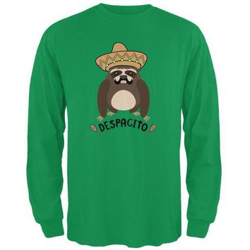 LMFCY8 Despacito Means Slowly Funny Sloth Pun Mens Long Sleeve T Shirt