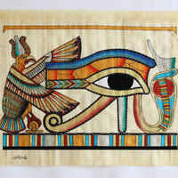 Eye of Ra | Ancient Egyptian Papyrus Painting