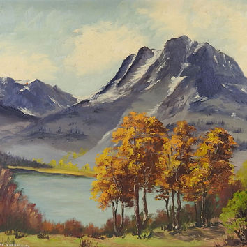 Mountain Landscape Oil Painting