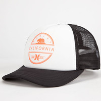 Hurley Destination Womens Trucker Hat White/Red One Size For Women 25108917301