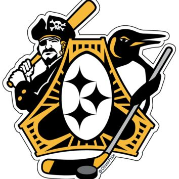 Pittsburgh Sports Fan Crest / Sticker