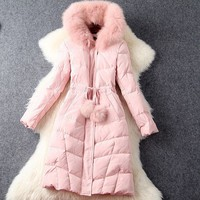 Hooded Long Down Jackets Winter Overcoat Outwear Winter jacket