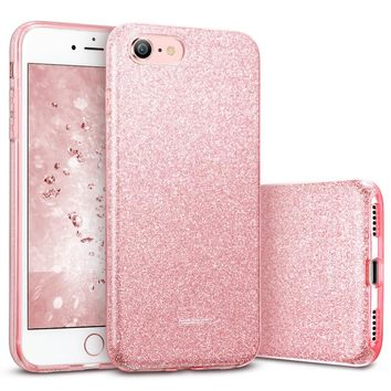 Case for iphone 8/8 Plus,ESR Makeup Series Back Cover Shinning Protective Bumper Bling Glitter 3-Layer Case for iPhone8 7 7 Plus