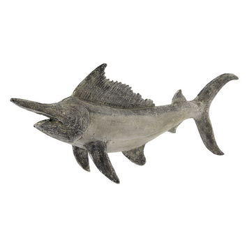 HEMINGWAY resin fish statue in grey W 126cm | Maisons du Monde