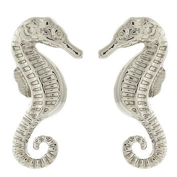 Seahorsin' Around Earrings Silver