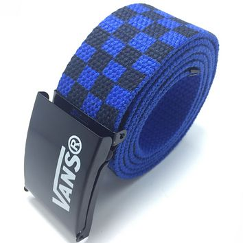Vantage Tide brand square canvas ribbon with men and women belt Blue
