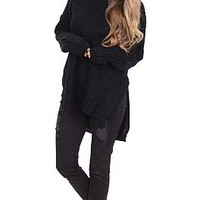 Chunky Sweater, Black