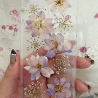 Handmade Real  natural pressed colorful flowers iphone 6 6 plus case iphone 4s 5 5s 5c case samsung galaxy s5 note 2 note 3 case cover new 3
