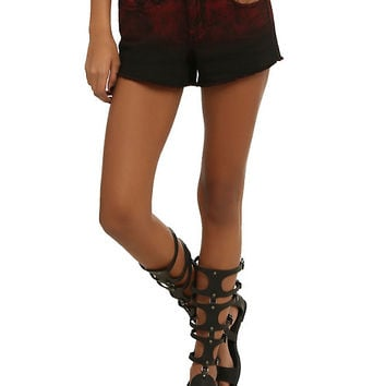 LOVEsick Red Acid Ombre Shorts