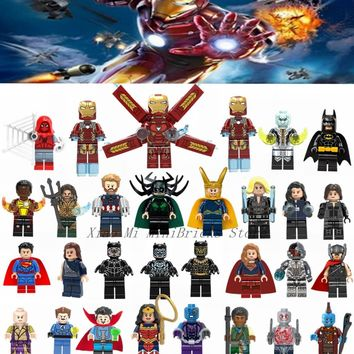 Deadpool Dead pool Taco Legoing Super Heroes Figure Iron Man Spiderman Batman Thor Hela Loki  Blocks Toys For Children Legoings Marvel Figures AT_70_6