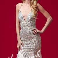 Mac Duggal Black White Red 81896R Dress