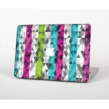 The Trendy Colored Striped Abstract Cube Pattern Skin Set for the Apple MacBook Pro 15""