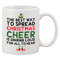 Cute Holiday Coffee Mug - The Best Way to Spread Christmas Cheer (JMC010)