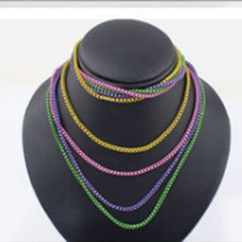 Colorful Multi-Strand Necklace
