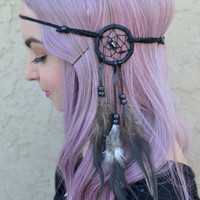 Black Dreamcatcher Headband #A1020
