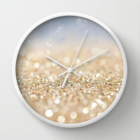 Glitter Me Wall Clock by Pink Berry Pattern