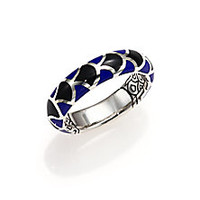John Hardy - Naga Enamel & Sterling Silver Dome Ring - Saks Fifth Avenue Mobile