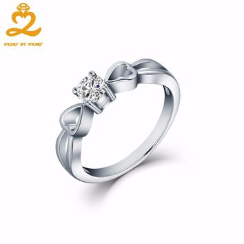 Heart By Heart Fashion Fine Jewelry Ring Newest Collection Heart Stackable 925 Solid Silver Jewelry for Women Men RINGS