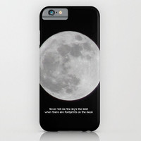 iPhone 6 Phone Case The Moon photo typography black white full photography iPhone 3g 3gs 4 4s 5s 5c 6 6 plus iPod touch Samsung Galaxy S4 S5