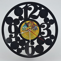 Vinyl Record Clock (artist is John Cougar)