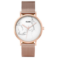 Buy CLUSE CL40007 Women's La Roche Mesh Bracelet Strap Watch, Rose Gold/Marble | John Lewis