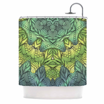 "Art Love Passion ""Fairy Mandala"" Green Yellow Shower Curtain"