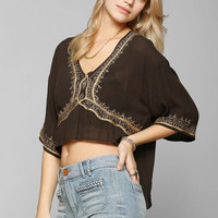 Ecote Tightrope Embroidered Gauze Top - Urban Outfitters