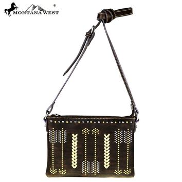 Montana West Arrows Collection Cross Body Handbag