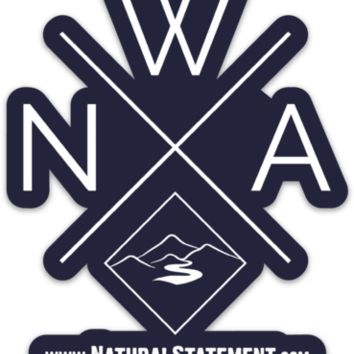 NWA Diamond Sticker