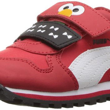 PUMA St Runner Elmo HOC V INF Boys' Infant-Toddler Slip On High Risk Red-puma White 6